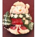Коледен буркан за сладки - 17 см.