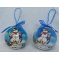 """Коледни топки в син цвят със """"захарно"""" покритие"""