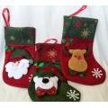 Коледен чорап с декорация - Дядо Коледа , мече или еленче