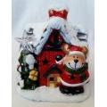 Коледна светеща къщичка с еленче