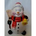 За Коледа - снежно човече касичка