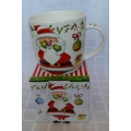 Коледна чаша - Дядо Коледа с шапка