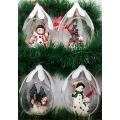 """Стъклена """"капка"""" за декорация на Коледа"""