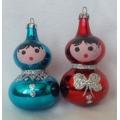 Стъклени български играчки - момиченце