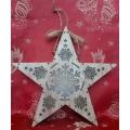 Светеща коледна звезда със снежинка