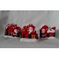 Коледен свещник - къщичка с Дядо Коледа