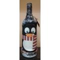 Коледна бутилка - с пингвинче